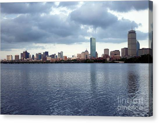 Patriot League Canvas Print - Back Bay And Downtown Skyline Of Boston Massachusetts by Bill Cobb