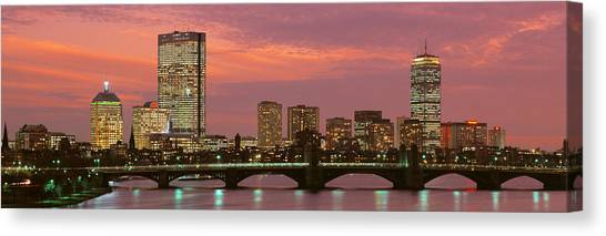 City Sunsets Canvas Print - Back Bay, Boston, Massachusetts, Usa by Panoramic Images