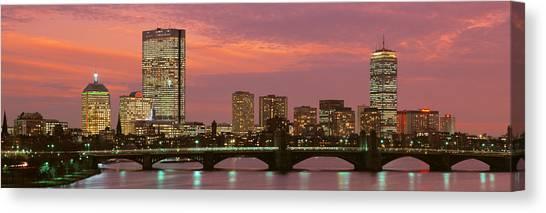 City Sunset Canvas Print - Back Bay, Boston, Massachusetts, Usa by Panoramic Images