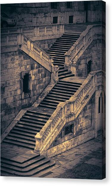 Real Madrid Canvas Print - Back Entrance Redux by Joan Carroll