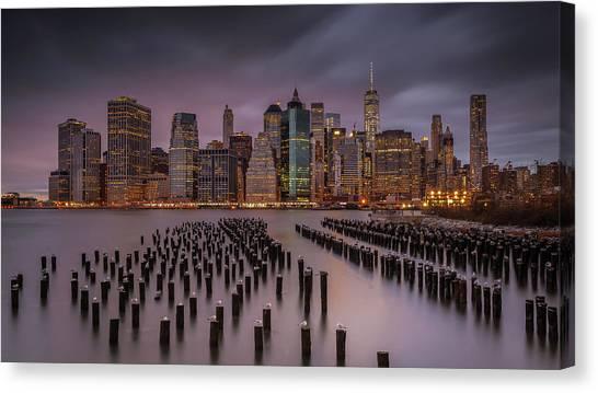 Manhattan Canvas Print - Back Home by Andreas Agazzi