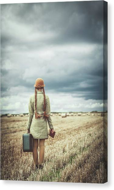 Destinations Canvas Print - Back Home by Magdalena Russocka