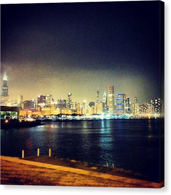 Skylines Canvas Print - Back In Chicago by Jill Tuinier