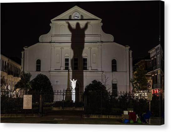 Back Of St Louis Cathedral In New Orleans Canvas Print