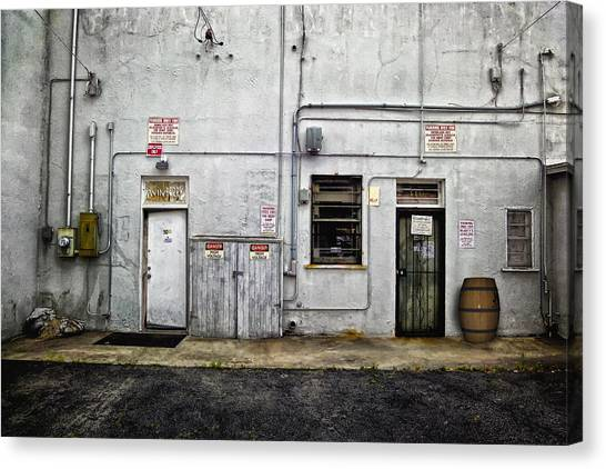 Back Of Store Canvas Print
