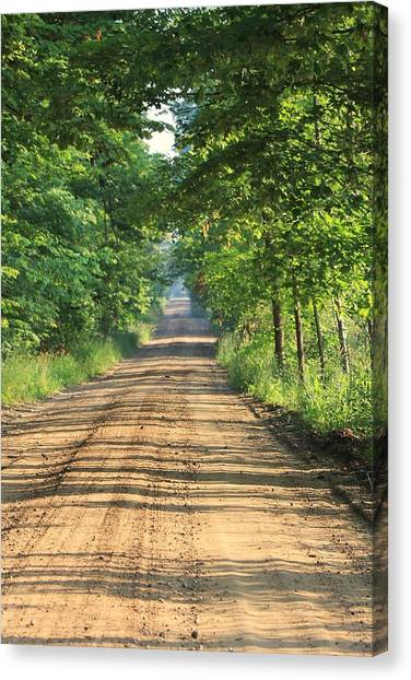 Back Road Morning Canvas Print