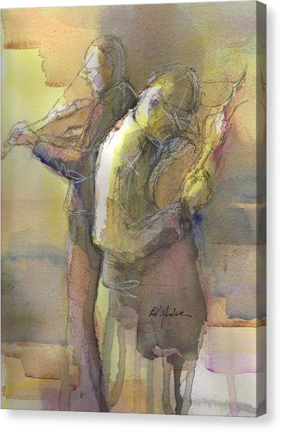 Bluegrass Canvas Print - Back To Back  by Robert Yonke