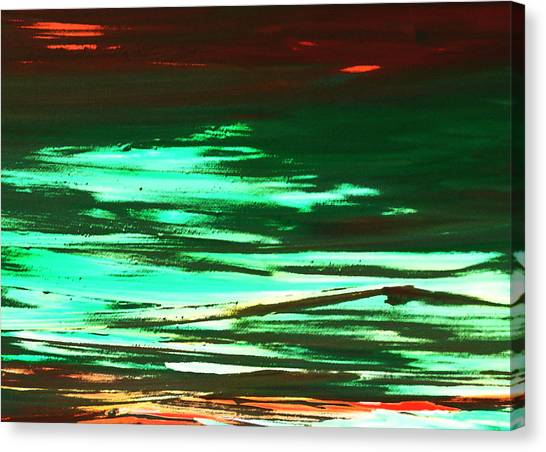 Back To Canvas The Landscape Of The Acid People Canvas Print