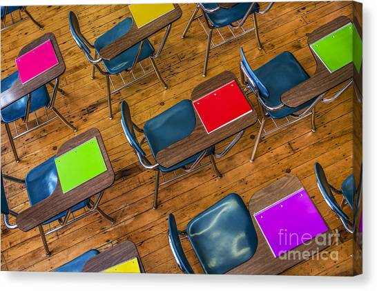 Classroom Canvas Print - Back To School by Diane Diederich