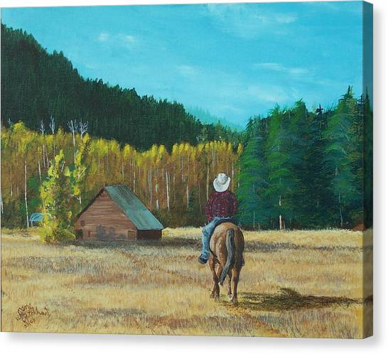 Back To The Barn Canvas Print