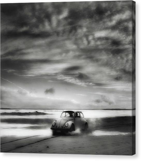 Shore Canvas Print - Back To The Future ... by Yvette Depaepe