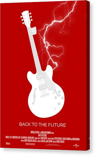 Back To The Future Canvas Print - Back To The Future Custom Poster by Jeff Bell