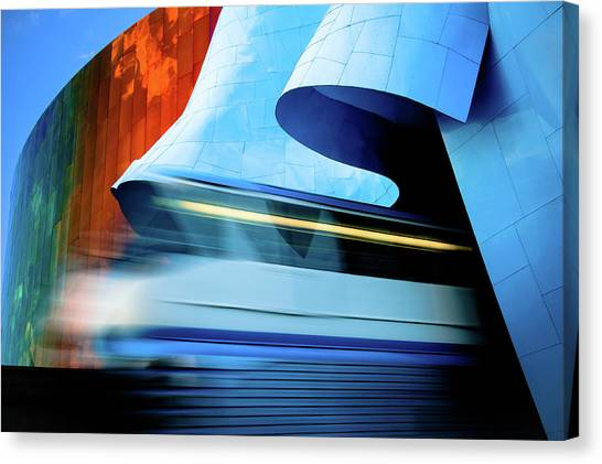 Railroads Canvas Print - Back To The Future by Jill Maguire