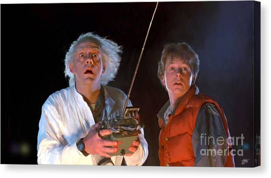 Back To The Future Canvas Print - Back To The Future by Paul Tagliamonte