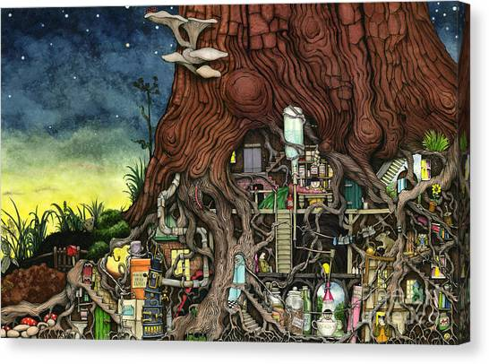 Junk Canvas Print - Back To Your Roots by Colin Thompson