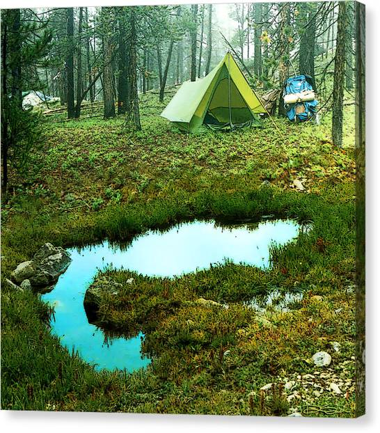 Backcountry Camp Canvas Print by Ric Soulen