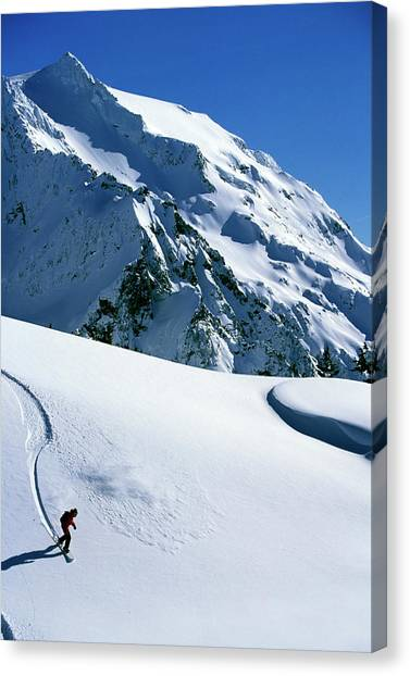 It Professional Canvas Print - Backcountry Snowboarding Near Mt by Corey Rich