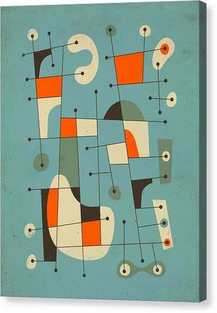 Abstractions Canvas Print - Background Music by Jazzberry Blue