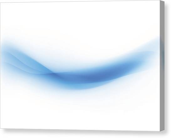 Background Swirl Blue Canvas Print by Iconeer