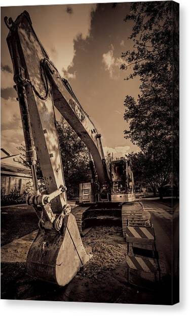 Backhoes Canvas Print - Backhoe-2 by Rudy Umans