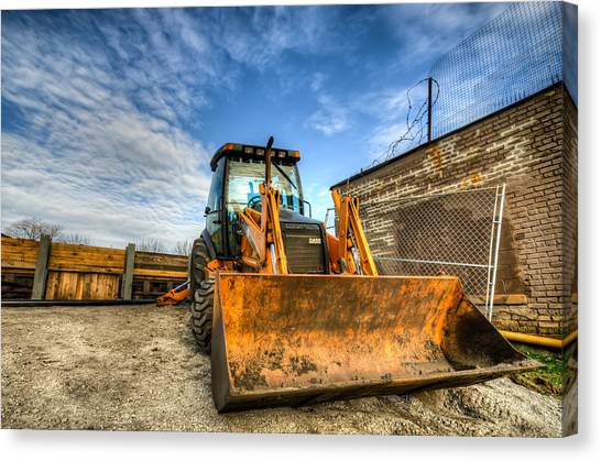 Backhoes Canvas Print - Backhoe by Anthony Doudt