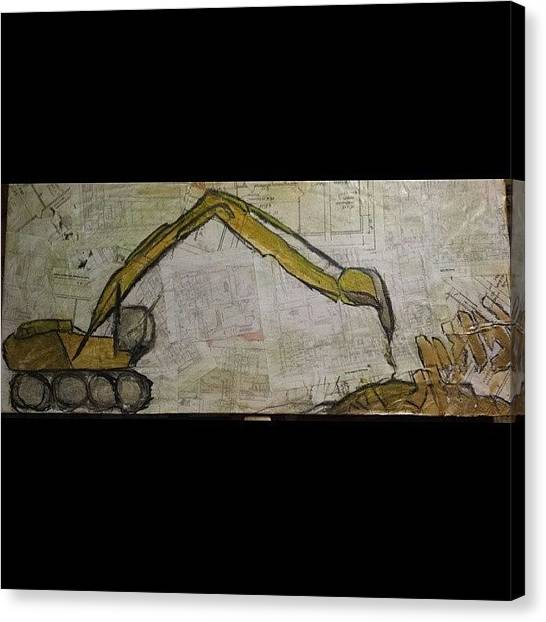 Backhoes Canvas Print - #backhoe #tampaart #artist by Markanthony R Little