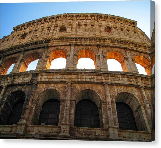 Backlit  Colosseum Canvas Print