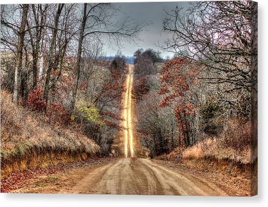 Backroad Canvas Print
