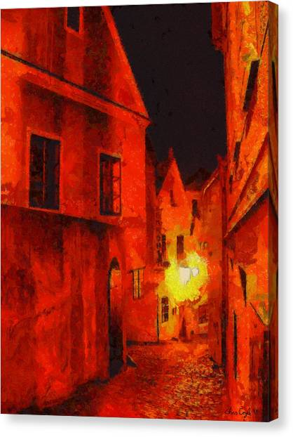 Prague Canvas Print - Backstreets Of Prague by Chris Coyle