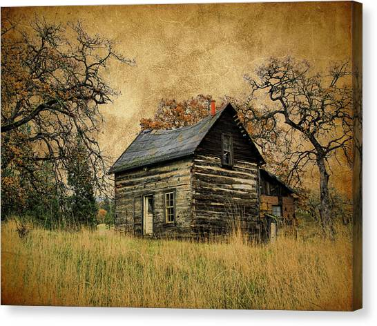 Canvas Print - Backwoods Cabin by Steve McKinzie