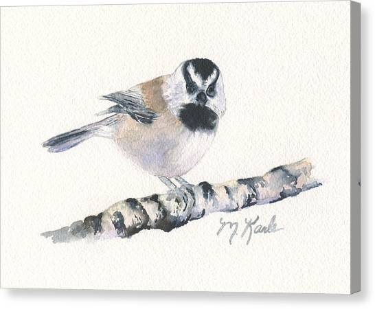 Backyard Busybody - Mountain Chickadee Canvas Print