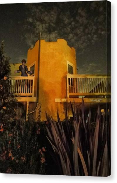 Backyard Castle Canvas Print