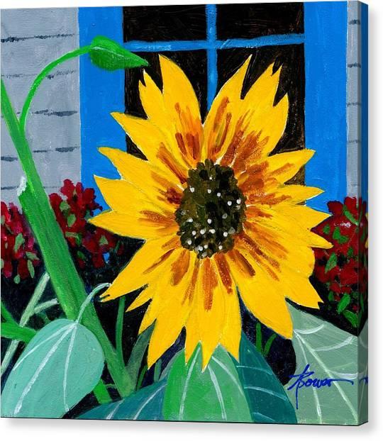 Backyard Flowers  Canvas Print