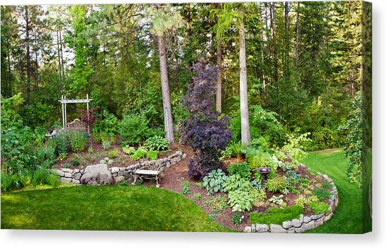 Loons Canvas Print - Backyard Garden In Loon Lake, Spokane by Panoramic Images