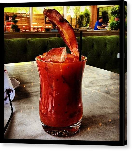 Pepper Canvas Print - Bacon Bloody Mary by Michele Beere