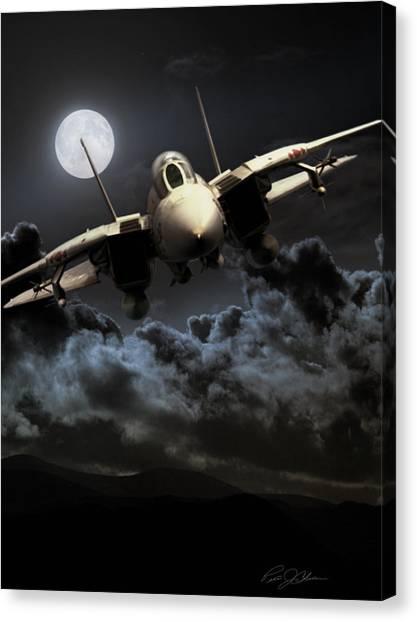 Diamondbacks Canvas Print - Bad Moon Rising by Peter Chilelli