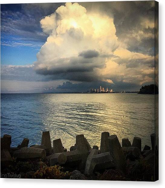 Storms Canvas Print - Good News Is On The Way  by Dave Thewlis