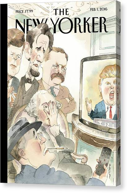 President Canvas Print - Bad Reception by Barry Blitt
