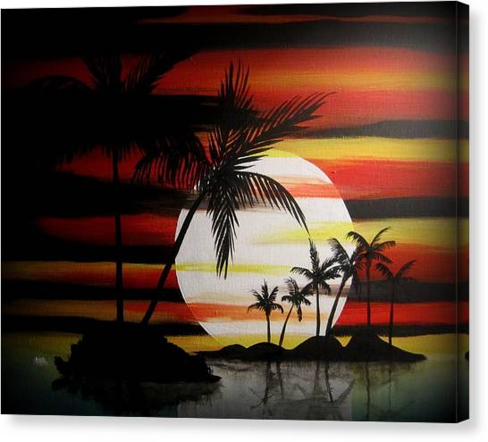 Bad Sunfire Canvas Print