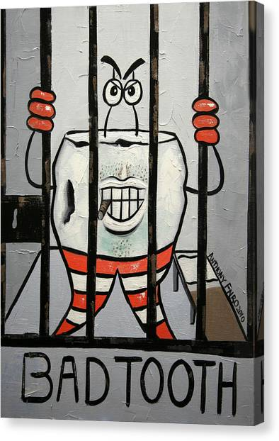 Dentists Canvas Print - Bad Tooth by Anthony Falbo