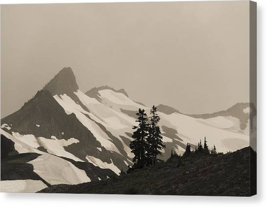 Fog In Mountains Canvas Print