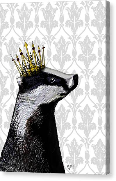 Badger King Canvas Print by Kelly McLaughlan