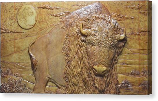 Bufffalo Canvas Print - Badlands Bull by Jeremiah Welsh