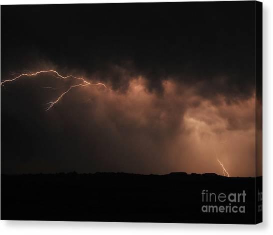Badlands Lightning Canvas Print by Chris Brewington Photography LLC