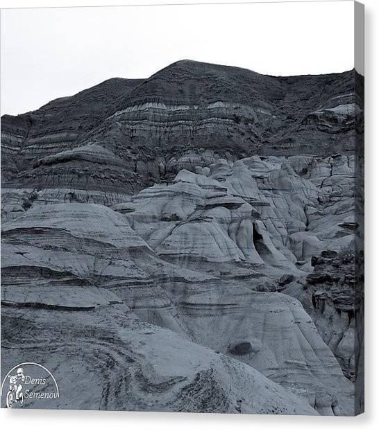 Dinosaurs Canvas Print - Badlands.  #canada #alberta #myalberta by Denis Semenov