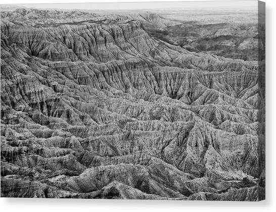 Badlands Of Great American Southwest - 3 Canvas Print