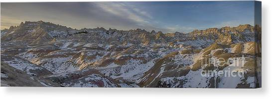 Badlands Sunrise Canvas Print
