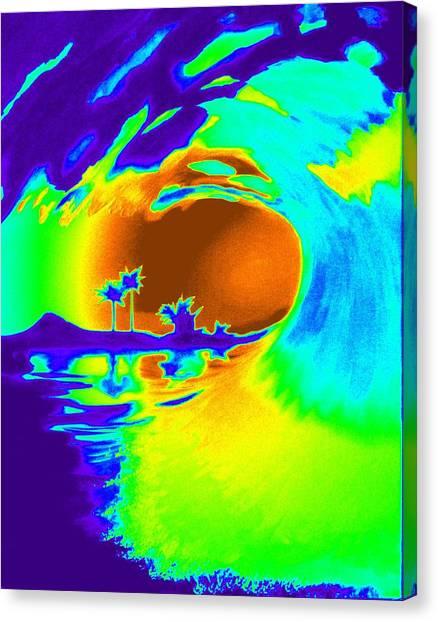 Badpurpwave Canvas Print