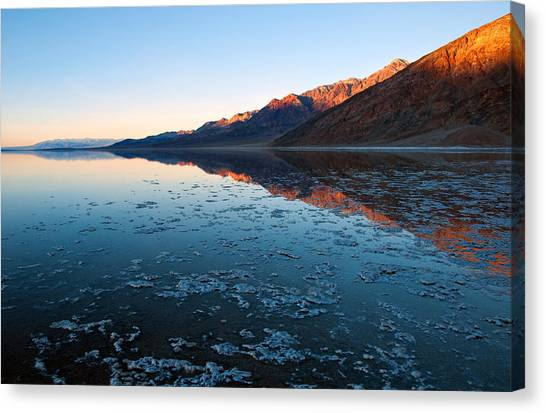 Badwater Glow Canvas Print