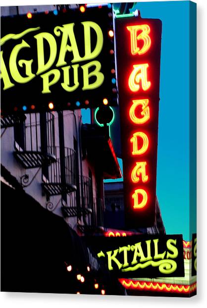 Bagdad Pub Canvas Print by Gail Lawnicki